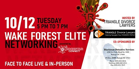 Free Wake Forest Elite Rockstar Connect Networking Event (October, NC) tickets