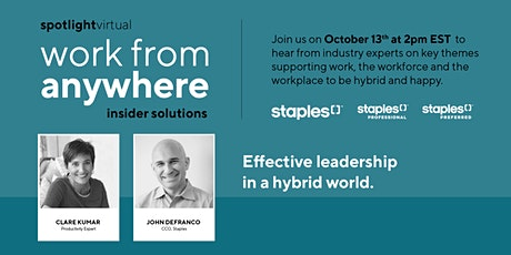 Effective leadership in a hybrid world. tickets
