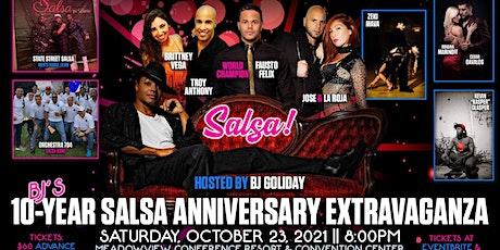 BJs 10 year anniversary salsa extravaganza tickets
