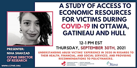 A Study of Access to Economic Resources - Victims in COVID-19 in the Ottawa tickets