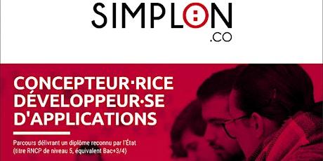 INFO CO - ALES / Concepteur Développeur d'Application - Simplon (en ligne) billets