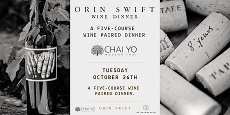 Orin Swift Wine Dinner  at Chai Yo Modern Thai tickets
