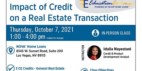 Impact of Credit on a Real Estate Transaction tickets