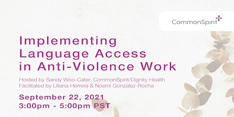 Implementing Language Access in Anti-Violence Work tickets