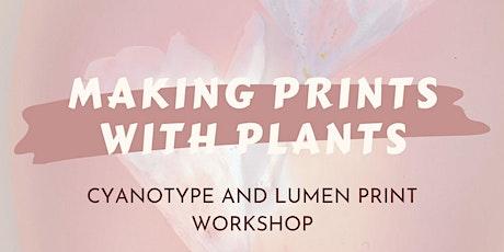cyanotype and lumen printmaking workshop tickets