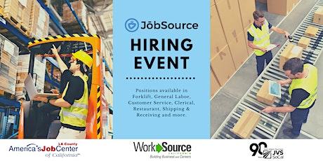 JobSource Recruitment Event tickets