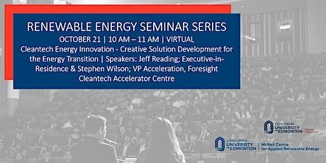 Renewable Energy Seminar Series tickets