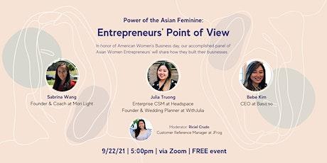 Power of Asian Feminine: An Entrepreneur's POV tickets