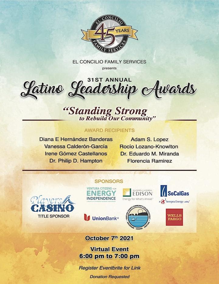 El Concilio's Latino Leadership Awards Celebration- Virtual image