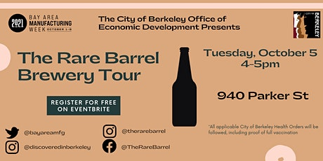 The Rare Barrel Brewery Tour tickets