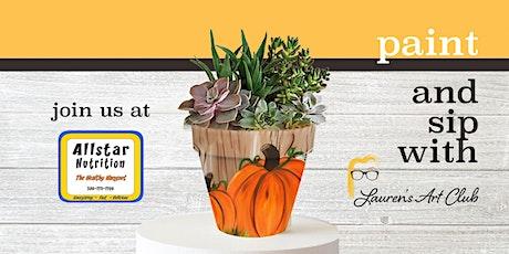 DIY Paint & Sip - Patriotic Clay Planting Pot - Allstar Nutrition tickets