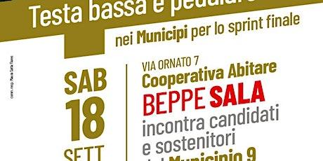 Beppe Sala in Municipio 9 biglietti