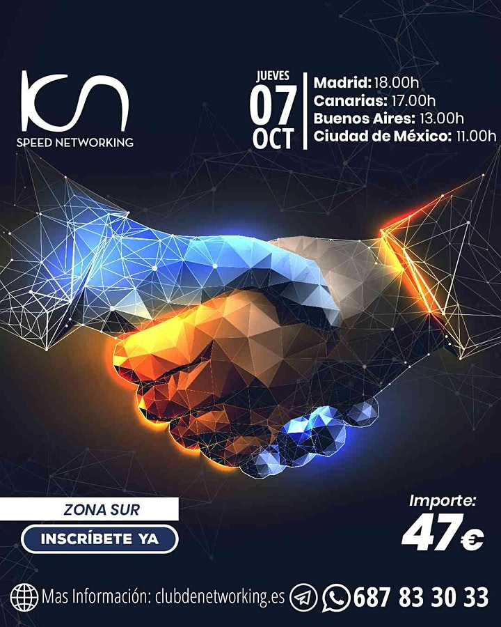 Imagen de KCN Speed Networking Online Zona Sur 07 OCT
