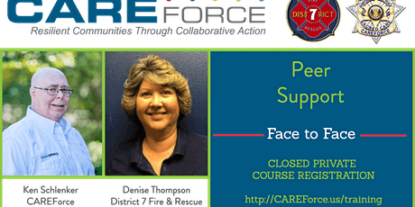 First Responder Peer Support tickets