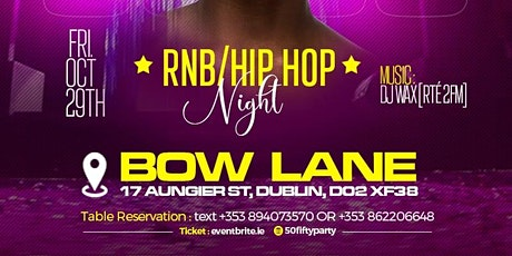 50/50 - RnB/HipHop at Bow Lane Social. tickets