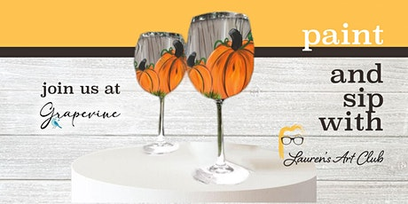 Grapevine Wine Bar - DIY Paint & Sip - DeLand - Fall Pumpkin Wine Glasses tickets
