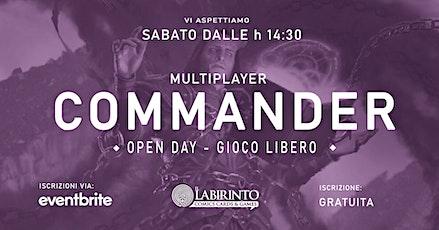 Mtg COMMANDER Multiplayer OPEN DAY | Sabato dalle h 14:30 biglietti
