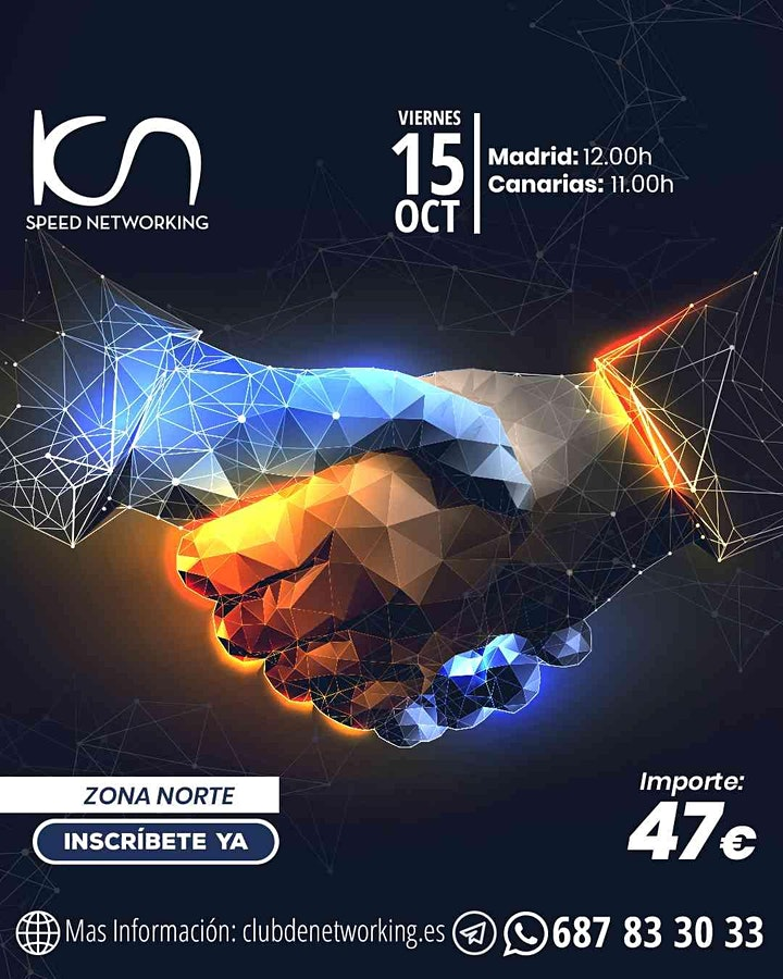 Imagen de KCN Speed Networking Online Zona Norte 15 OCT
