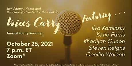 Poetry Atlanta Presents…Voices Carry Poetry Reading 2021 tickets