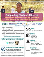 (WEBINAR) Supporting Student-Athletes: Sports injury rehab & academic tips tickets