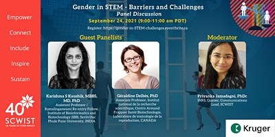 Gender in STEM – Barriers and Challenges  (Panel Discussion)