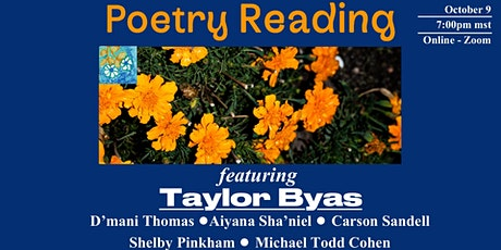 Poetry Reading: Featuring Taylor Byas tickets