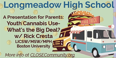 Youth Cannabis Use- What's the Big Deal? A Presentation w/ Rick Cresta @7pm tickets