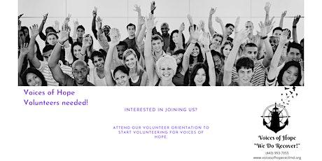 Voices of Hope Virtual Volunteer Orientation tickets