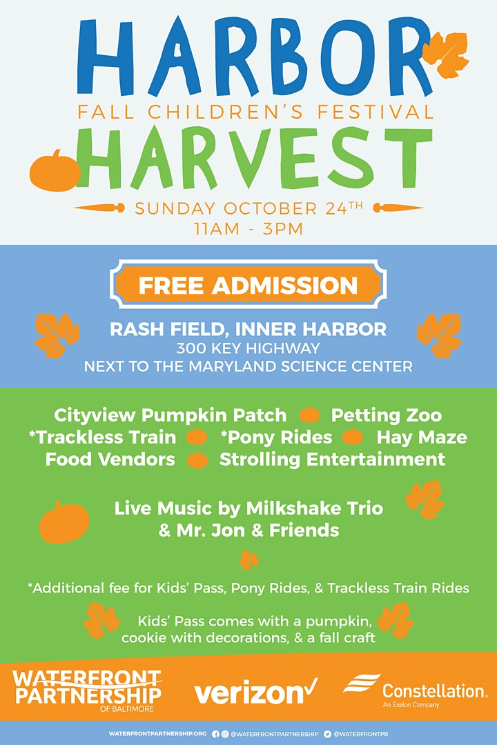 14th Annual Harbor Harvest Fall Children's Festival image