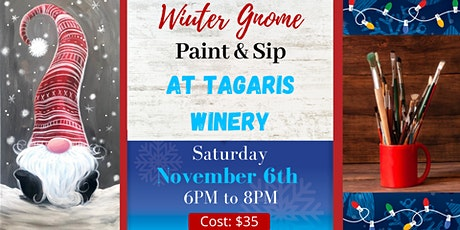 Winter Gnome Paint and Sip tickets
