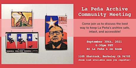 La Peña Archive Committee Meeting tickets