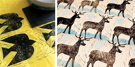 Hand Printed Wrapping Paper Workshop tickets