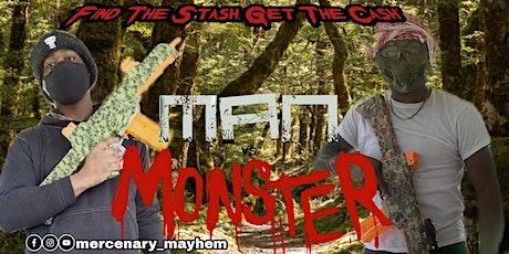 """Halloweens Mercenary Mayhems """"Man Vs. Monster"""" tickets"""