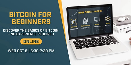 Bitcoin for Beginners - ONLINE tickets