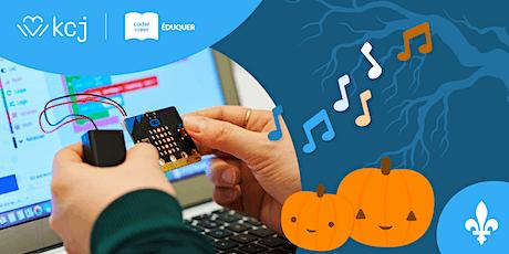 Codage pour enseignant·e·s: célébrez l'Halloween avec les micro:bits tickets