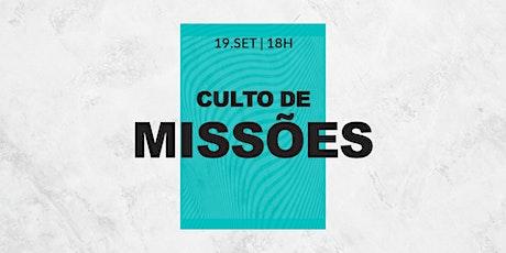 CULTO DE MISSÕES 18H | KIDS 4 À 12 ANOS ingressos