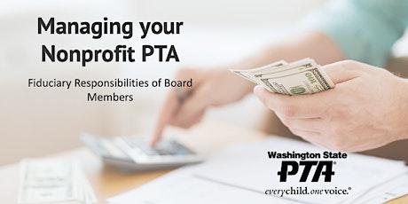 Managing Your Nonprofit PTA tickets