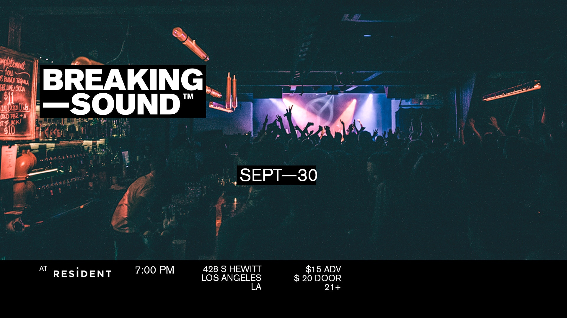 Breaking Sound LA feat. crooked teeth, The Drives, Sorry Ghost, + more