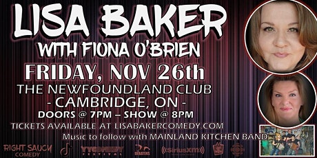 Lisa Baker - Right Saucy Comedy - Cambridge, ON tickets