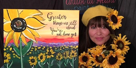 Sunflowers Paint Night | Paint and Sip Party in Parma tickets