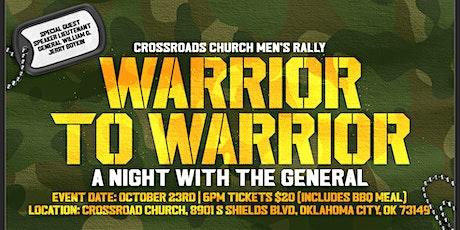 Warrior to Warrior: Crossroads Men's Rally (an evening with General Boykin) tickets