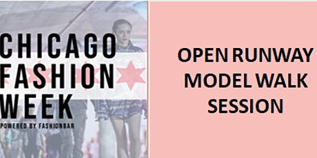 OPEN RUNWAY MODEL WALK SESSION  -   PREPARE  FOR The Shows  OCTOBER 2021 tickets