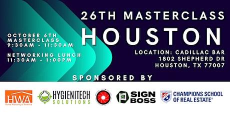 Masterclass Houston October 6th 2021 tickets