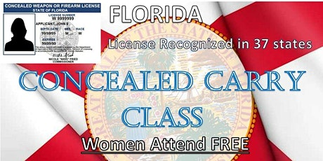 Concealed Carry Class  - End of Summer Special - Women FREE tickets