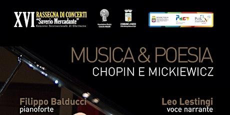 MUSICA & POESIA Chopin e Mickiewicz biglietti