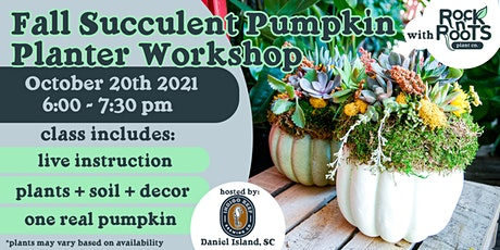 Fall Succulent Pumpkin Planter Workshop at Indigo Reef Brewing Co. tickets