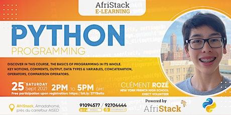 AfriStack E-Learning : PYTHON PROGRAMMING billets