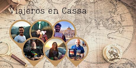 Viajeros en Cassa. Encuentro con escritores de viajes entradas