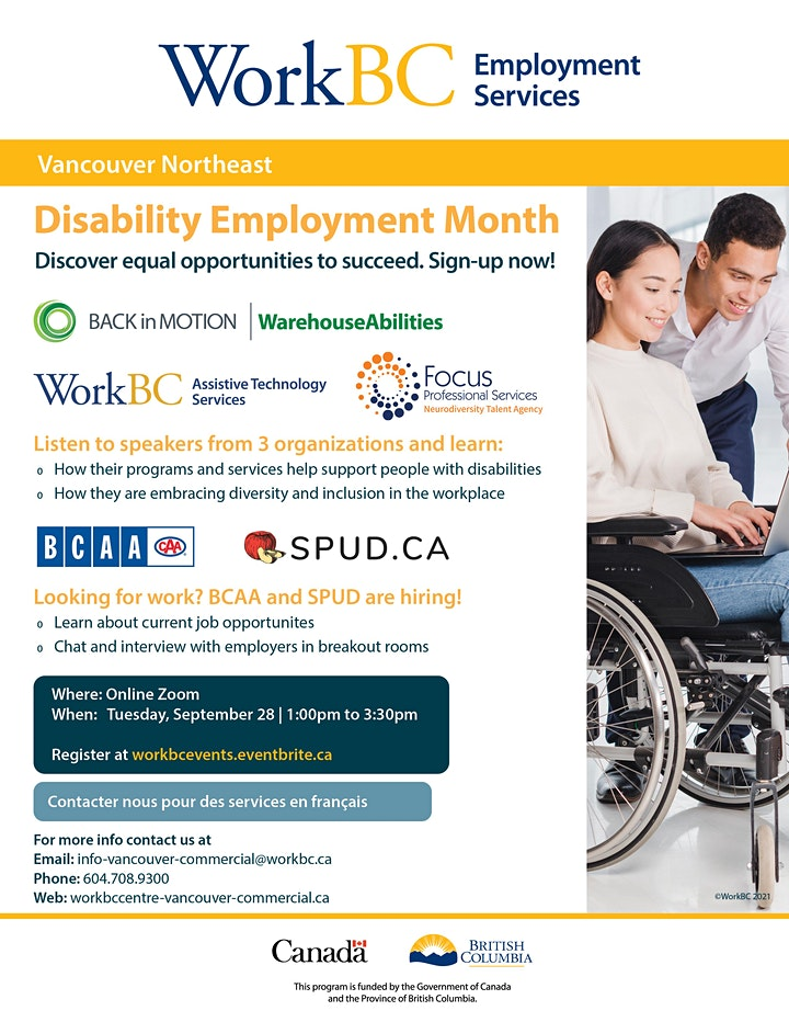WorkBC VNE - Disability Employment Month Info Session & Hiring Event image