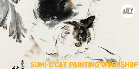 Sumi-e Japanese Cat Painting tickets